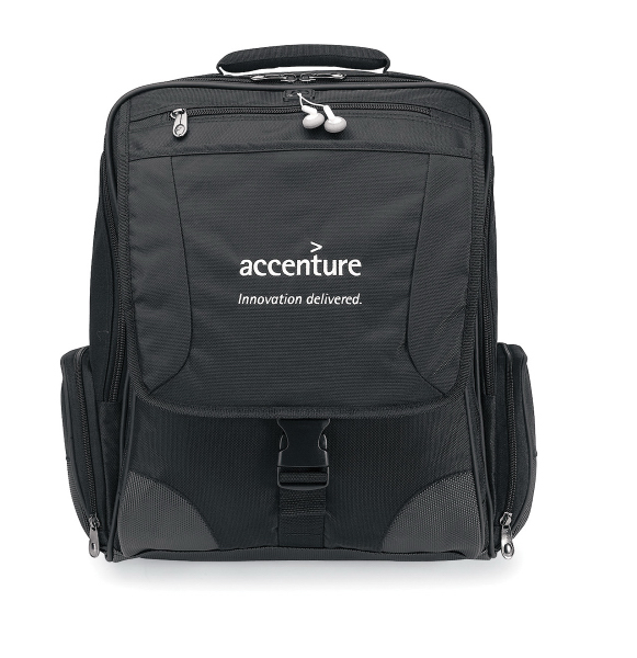 Imprinted Momentum Computer Messenger Bag