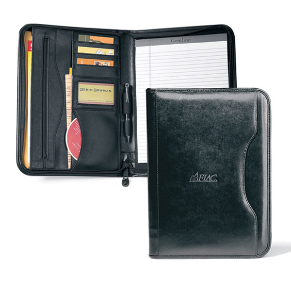 Customized Deluxe Executive Vintage Leather Padfolio