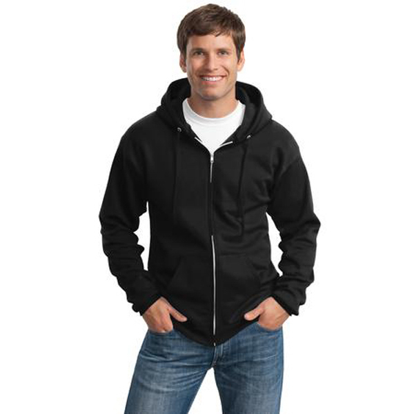 Personalized Port & Company® full-zip hooded sweatshirt