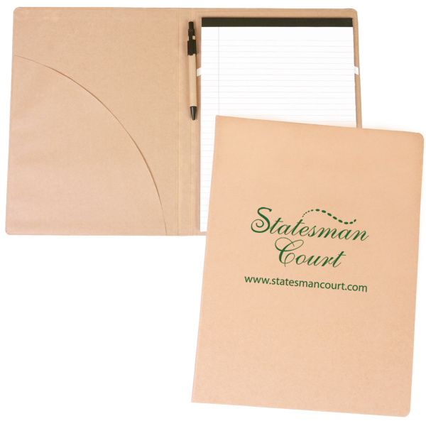 Imprinted Recycled Padfolio with Pen