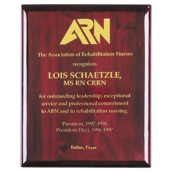 "Promotional Piano Wood (R) Rosewood Wall Plaque, 9"" x 12"""