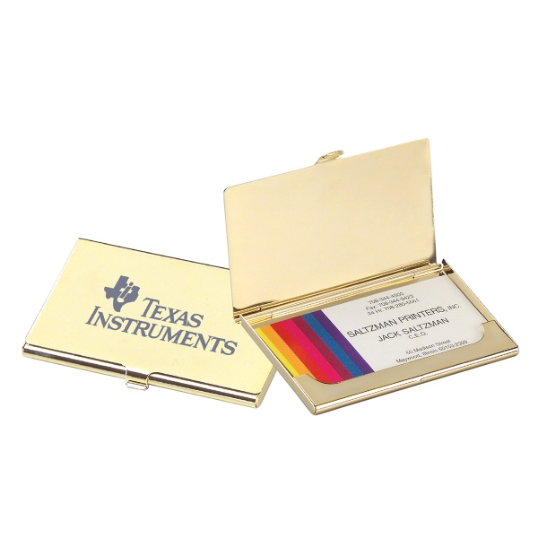 Personalized Brass Business Card Holder