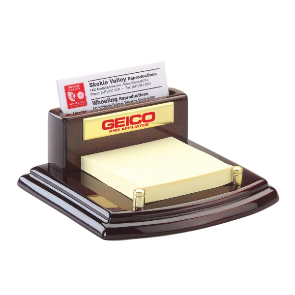 Printed Business Card Holder with Note Pad Holder