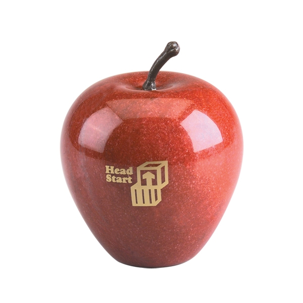 Promotional Genuine Marble Apple Paperweight