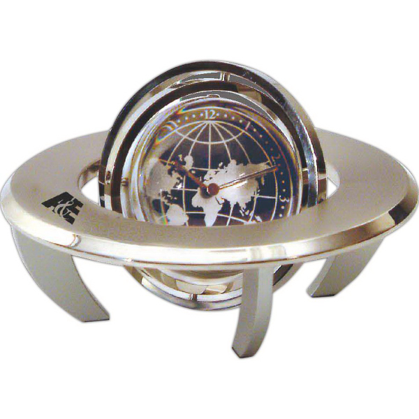 Customized Orbital Spinning Gyro Globe Clock
