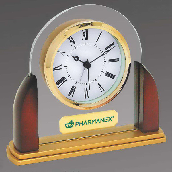 Customized Glass and Wood Alarm Clock