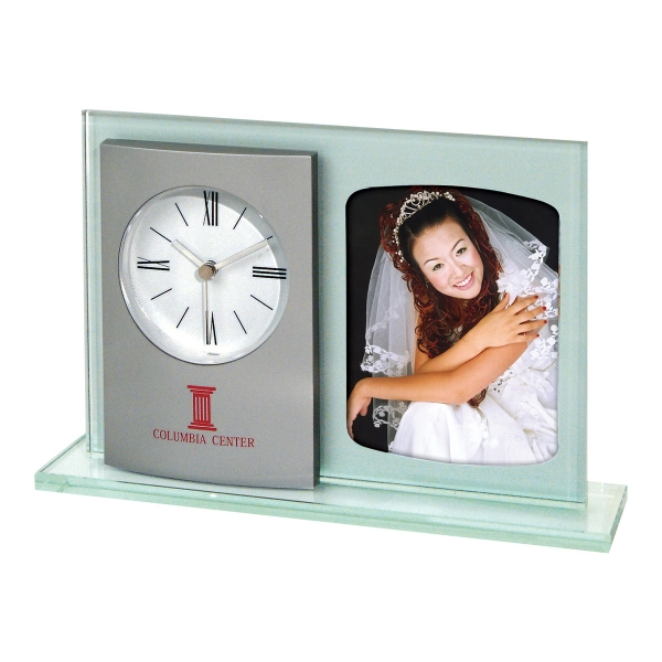 Personalized Michelle Glass Picture Clock