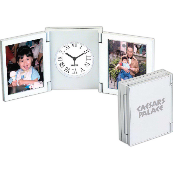 Promotional Tri-Fold Desk Picture Alarm Clock