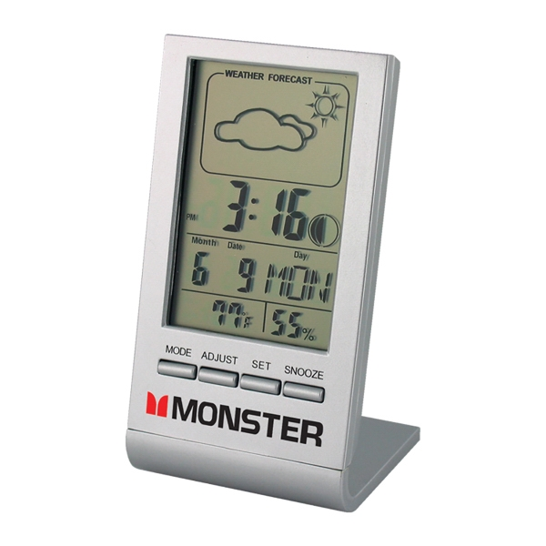 Promotional Weather Forecast Desk Clock