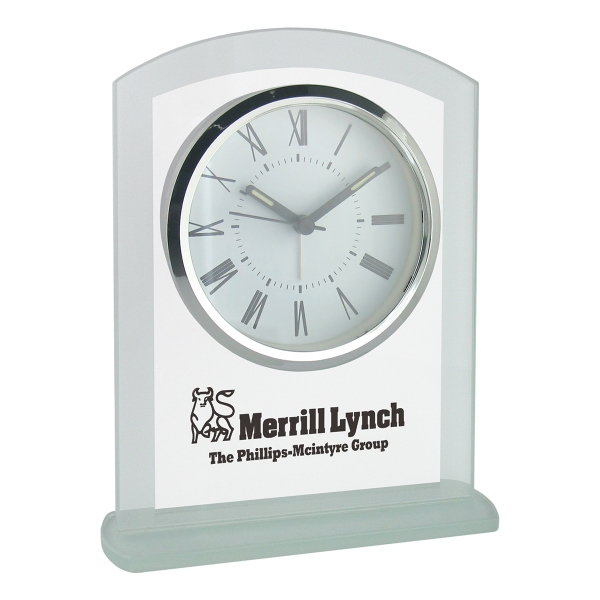 Promotional Panel Glass Desk Alarm Clock