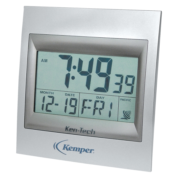 Personalized Square Atomic LCD Wall Clock