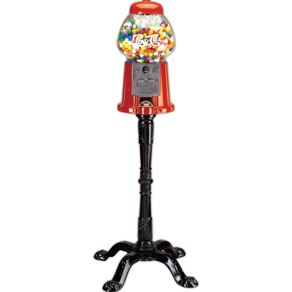 Printed Carousel King Size Gumball Machine with Stand