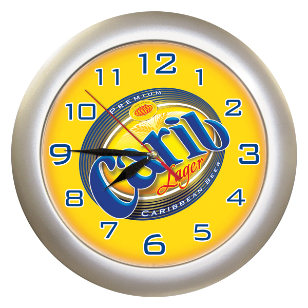 Customized Silver Wall Clock