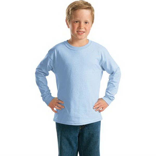Imprinted Gildan® youth Ultra Cotton® long sleeve t-shirt