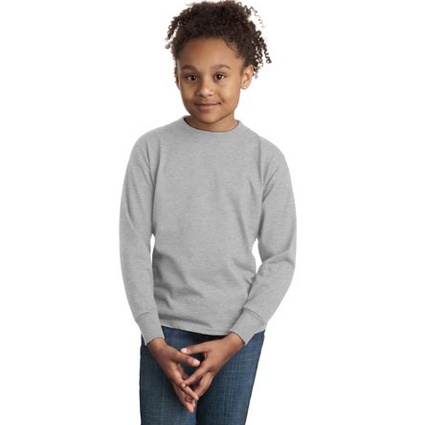 Customized Hanes® youth tagless® 100% cotton long sleeve t-shirt