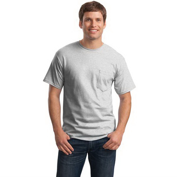 Printed Hanes (R) - Tagless (R) 100% Cotton T-Shirt with Pocket