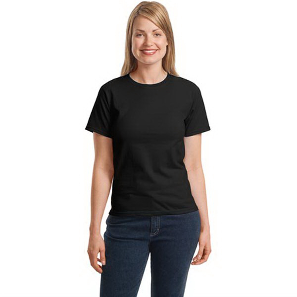Custom Hanes® ladies' Comfortsoft® crewneck t-shirt