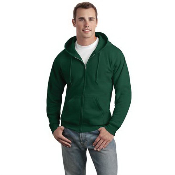 Imprinted Hanes® Comfortblend® Ecosmart (R) full-zip hooded sweatshirt