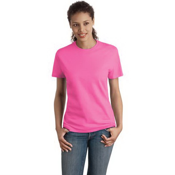 Imprinted Hanes® ladies' Nano-T(R) cotton t-shirt