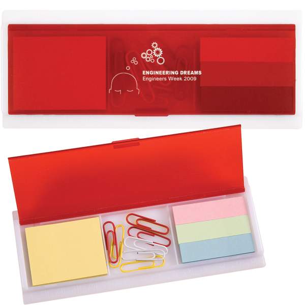 Custom Sticky Note and Paper Clip Ruler Case