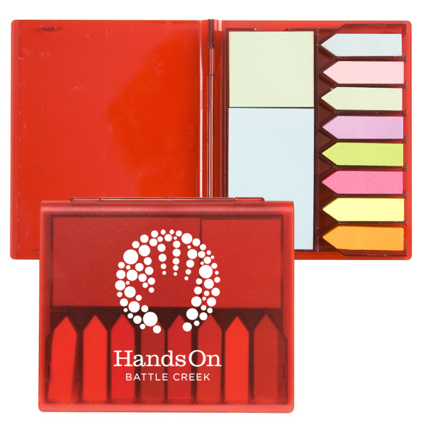 Personalized Sticky Note Plastic Memo Caddy