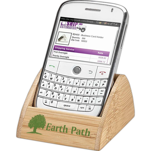 Promotional Bamboo cell phone holder