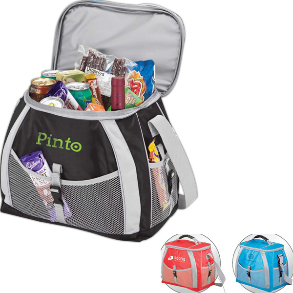 Promotional 21 liter cooler bag with PEVA lining