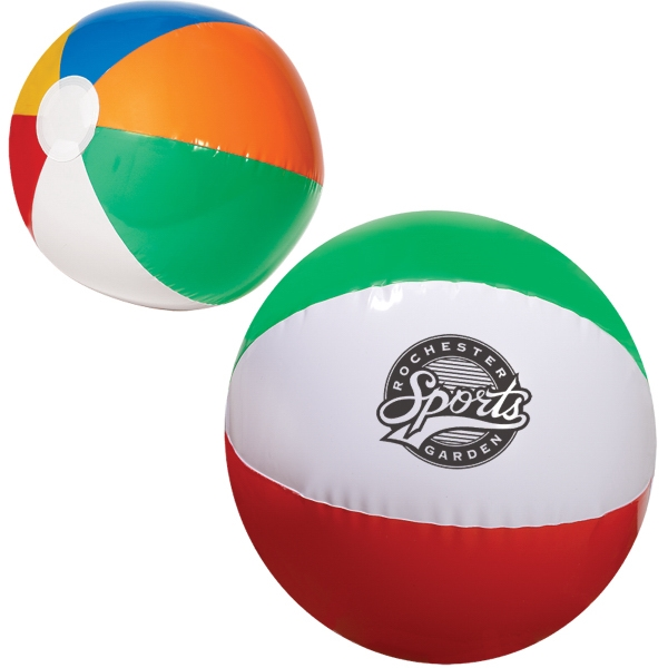 "Custom 16"" Multi Colored Beach Ball"