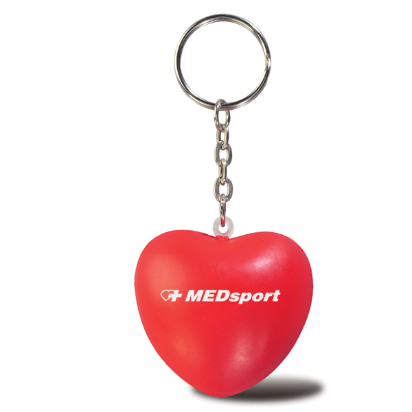 Personalized Heart stress ball key chain