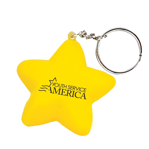 Promotional Star Stress Ball Key Chain