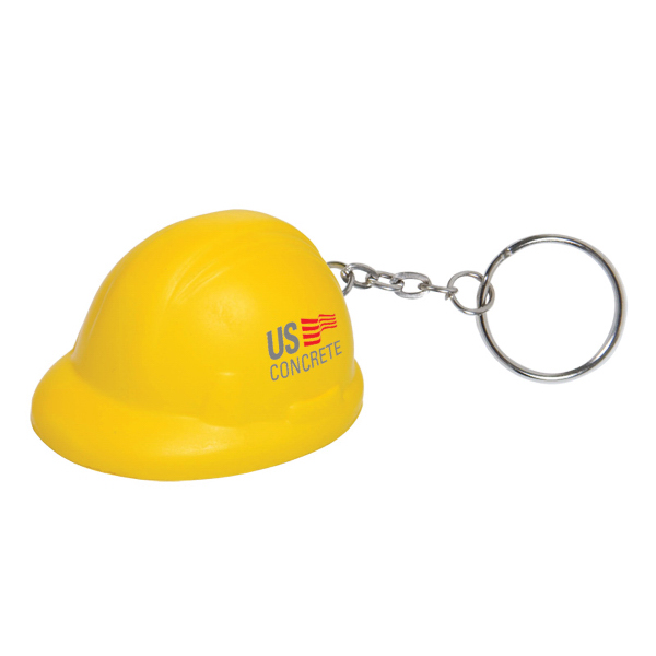 Custom Hard Hat Stress Reliever Key Chain