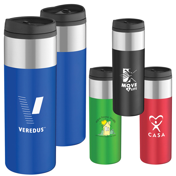 Promotional Chrome Top Slim Travel Tumbler