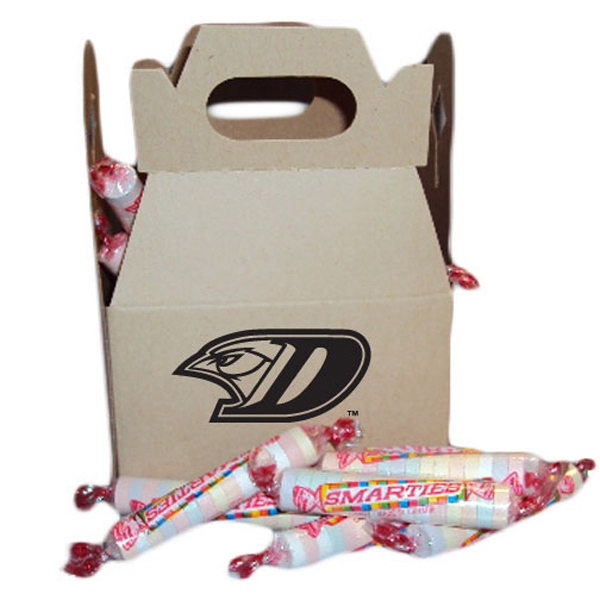 Customized Smartees candies in gable box