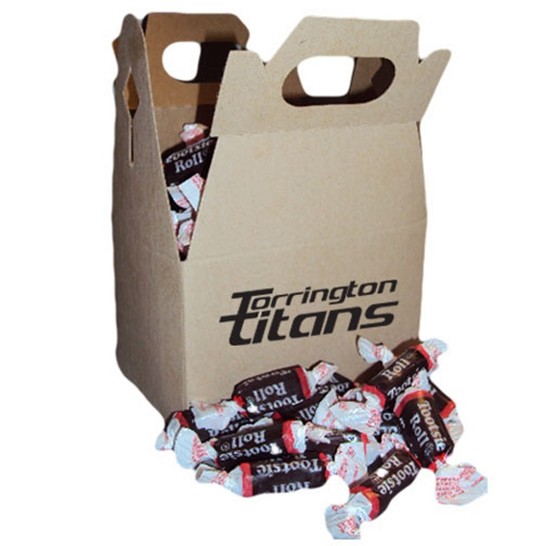 Promotional Tootsie Rolls candies in gable box