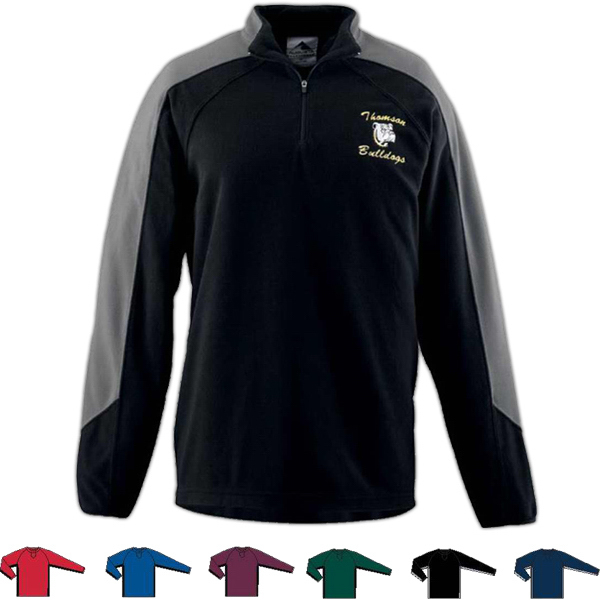 Personalized Adult Micro Fleece Half-Zip Pullover