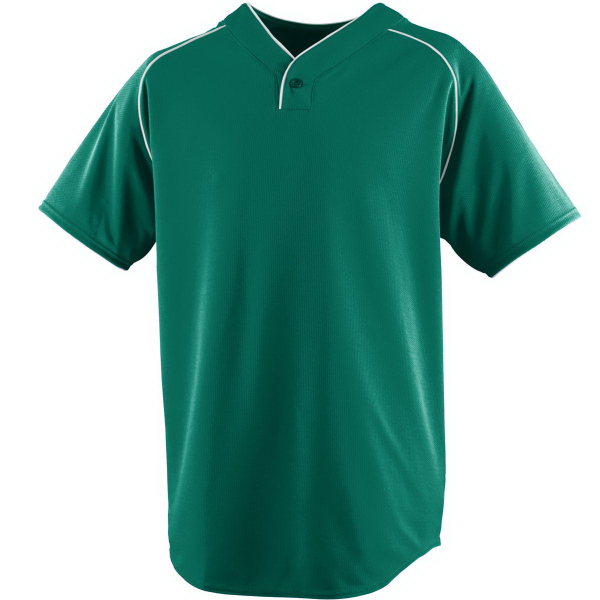 Custom Wicking One-Button Baseball Adult Jersey