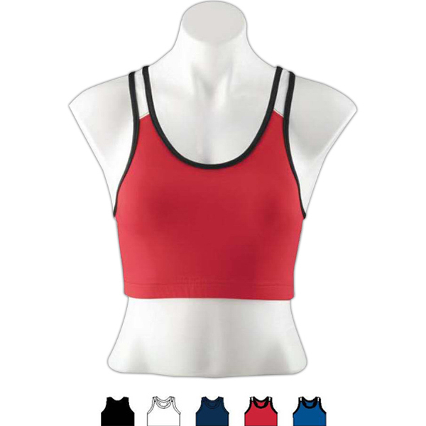 Promotional Ladies Poly/Spandex Sport Bra