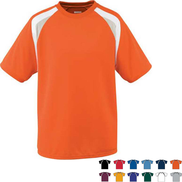 Promotional Wicking Mesh Tri-Color Adult Jersey