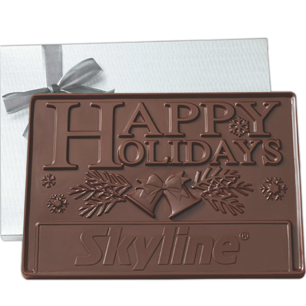 Custom 2 lb Custom Molded Chocolate Presentation Bars