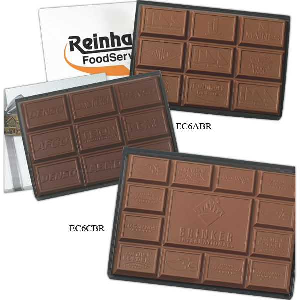 Personalized 1 lb Custom Molded Breakaway Chocolate Bar