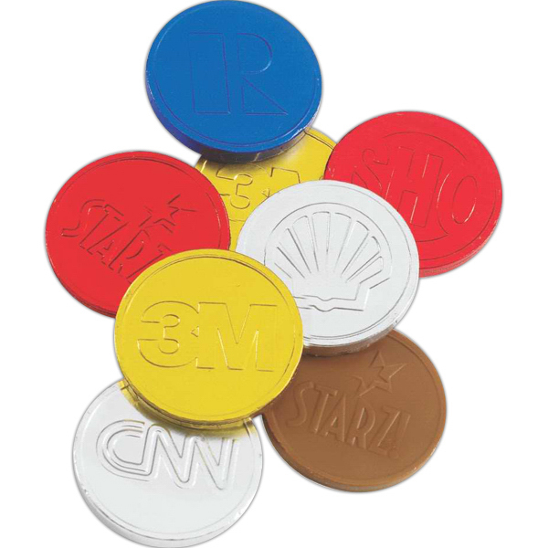 Custom Chocolate Coin with Imprinted Logo