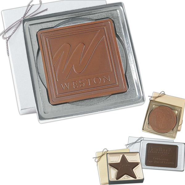 Customized Rectangle shape molded chocolate in gift box