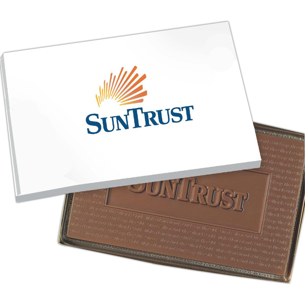Custom 8 oz. Cutout Shape Custom Logo Molded Chocolate