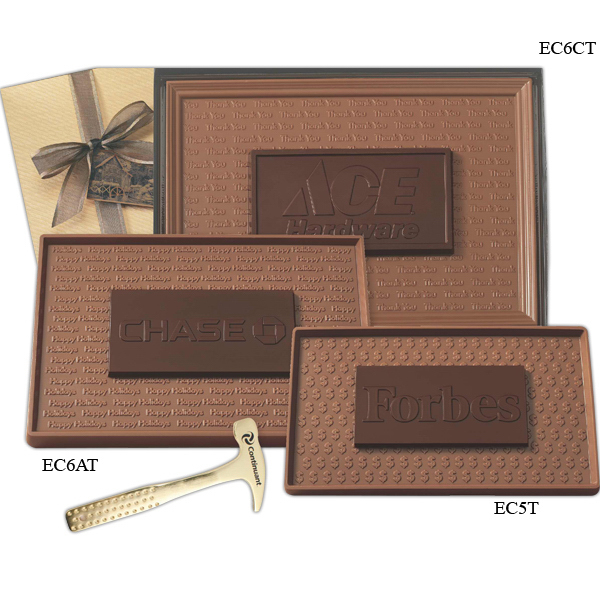 Personalized 8 oz. Two Tone Chocolate Bar in Gift Box