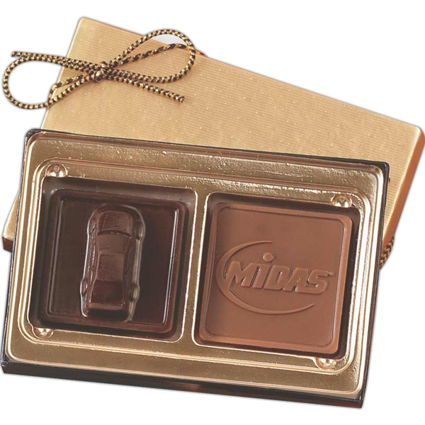 Personalized Custom Molded Chocolate Squares Gift Box
