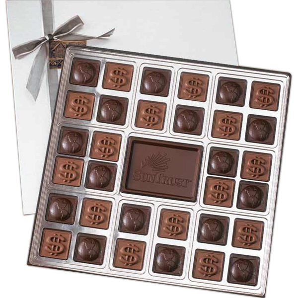 Printed Double layer custom chocolate squares gift box