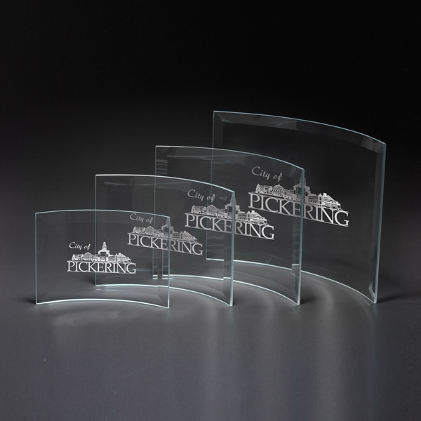 Imprinted Crescent Large Glass Award