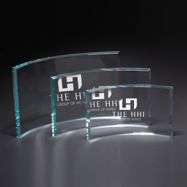 Personalized Times Small Glass Award