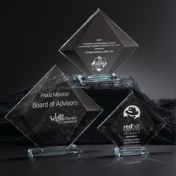 Personalized Vision Medium Glass Award