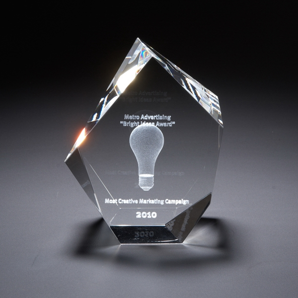 Printed 3D Crystal Maximo Small Award
